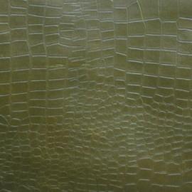 Кожа Свиная Принт зеленый крокодил Н5752