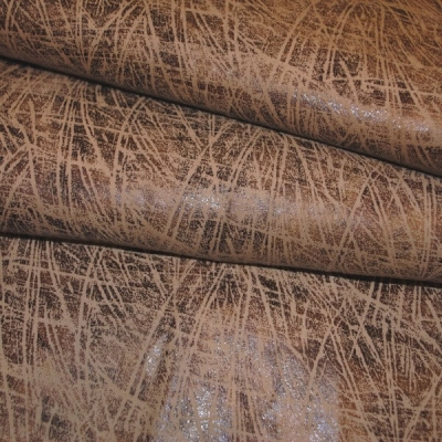 Кожа Свиная Принт коричневая паутинка
