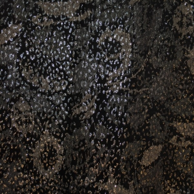 Кожа Свиная Принт серые листья
