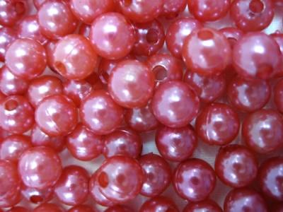 Пластиковые бусины для рукоделия красные