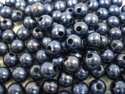 Пластиковые бусины для рукоделия синие