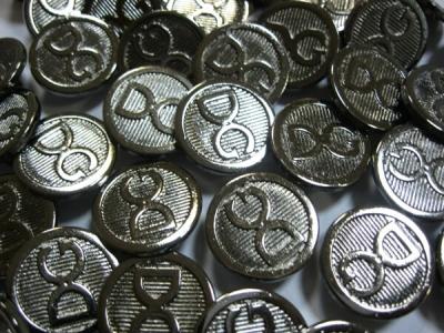 Пуговицы пробивные DG металлические уп 50 шт.