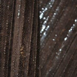 Кожа Овчина Гофра коричневая с блеском