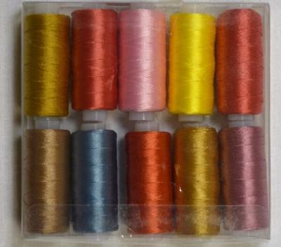 Нитки капроновые 270м цветные особо прочные в уп. 10 шт.