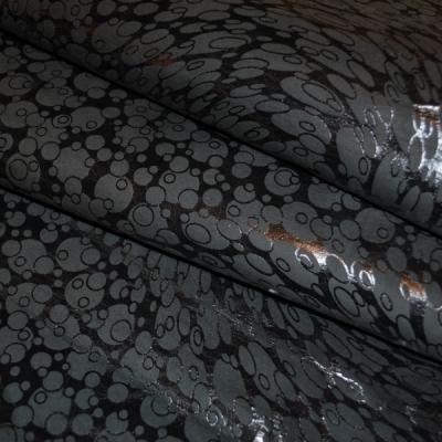 Кожа Овчина Принт темно-серые пузыри Е5820