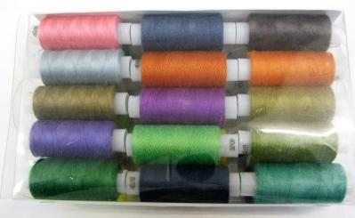 Нитки швейные 40 ЛШ 30 шт цветные