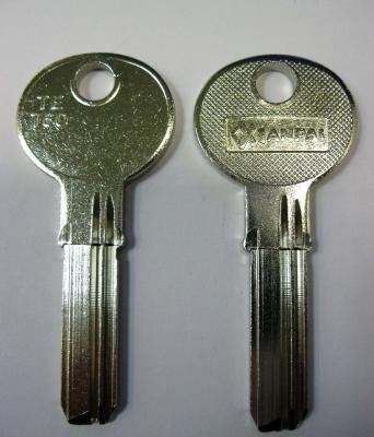 Заготовка для ключей 00517 TET60.TET62_TS14_TE7_TSA3 Tesa вертикальный