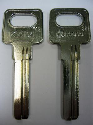Заготовка для ключей Вертикальная 00569 KAIXI-1_X_2 паза (9.0*34mm)