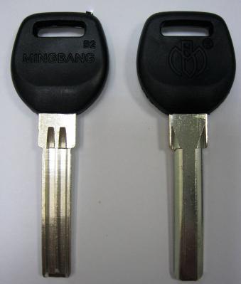 Заготовка для ключей 00659 проф (Э) 2 паза с плащадкой 8,0*34 мм ручка пластик (ПАН-ПАН, MINGBANG-B2) вертикальные