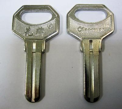 Заготовка для ключей 00625 Sanjin 1 паз по средине (8*25мм) верикальная
