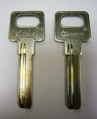 Заготовка для ключей 00568 KAIXI-1D_X 2 паза (9*34мм) вертикальная