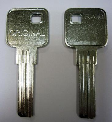 Заготовка для ключей 00515 FUARO-1 (BUL1-jima) (9*28мм) вертикальные