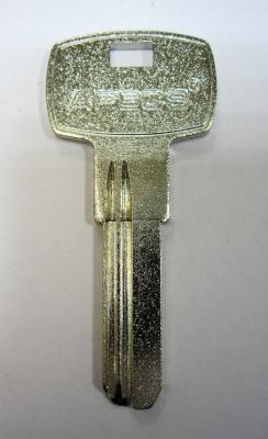 Заготовка для ключей 00532 AP1D_APEX под бронь матовый (2,4мм) вертикальные