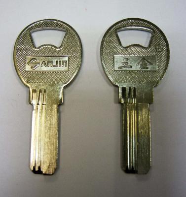 Заготовка для ключей 00536 SANJIN металл 3 паза (22,6*9*2мм)