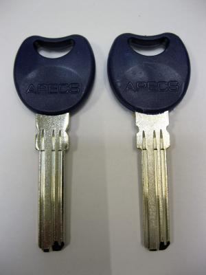 Заготовка для ключей 00544 APEX_07 K-4KC plastik lond вертикальные