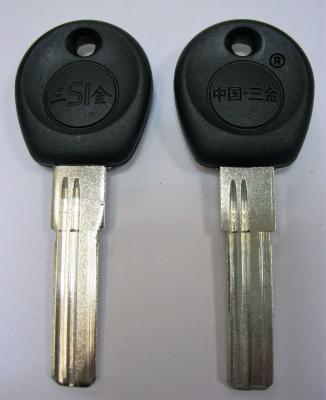 Заготовка для ключей 00572 2 паза левые длинные упор змейка (31*9,2*2,56мм)