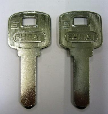 Заготовка для ключей 00635 BUL-2 БУЛАТ пустышка 1,8мм (булат-вс-5а_50мх-без пазов) вертикальная