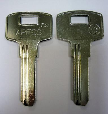 Заготовка для ключей 00679 AP1D_APEX_FAV-1D узкий (2,4мм*8,50мм) вертикальная