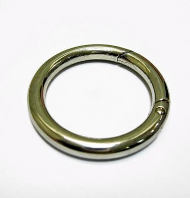 Карабин кольцо для сумок Д167 (металлический) никель