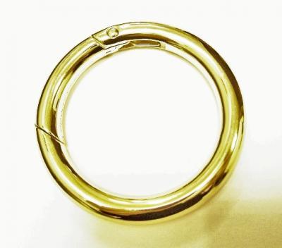 Карабин кольцо для сумок Д167 золотой