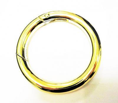 Карабин кольцо для сумок №17 d38 F мм антик