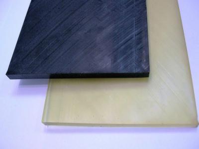 Пластина полиуретановая 9см*50см*6мм черная и бежевая