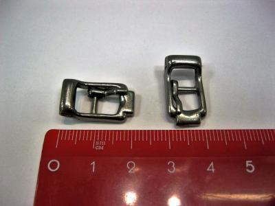 Пряжка-скоба обувная 5*15 мм никель