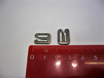 Пряжка-скоба для босоножек 8 мм темный никель