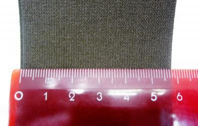 Резинка башмачная 6 см коричневая полиэстер
