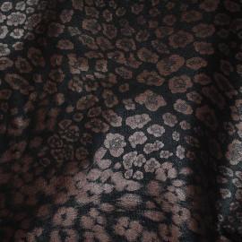Кожа одежная Принт Бронзовый леопард Г4112
