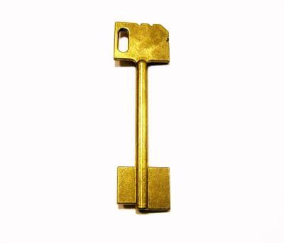 Заготовка для ключа Майер-2 сейф_ флажковая 2-ст. без пазов  90мм*флажок 18,3мм*16мм
