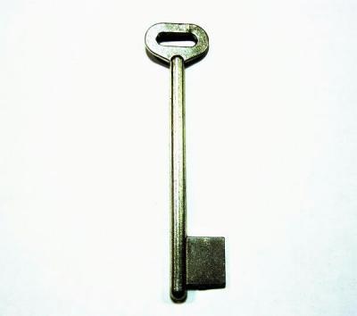 Заготовка для ключа длинная однофлажковая, никель