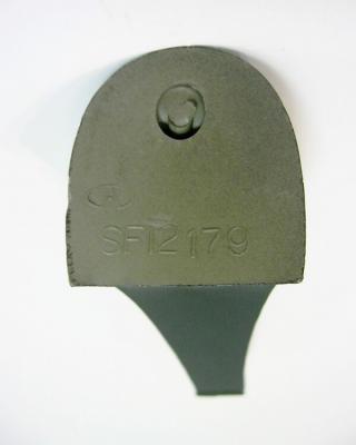 Каблук женский модельный МАО 12179 7/8 черный в полоску