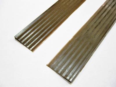 Полиуретановый косячок с протектором 30см*3,5см коричневый