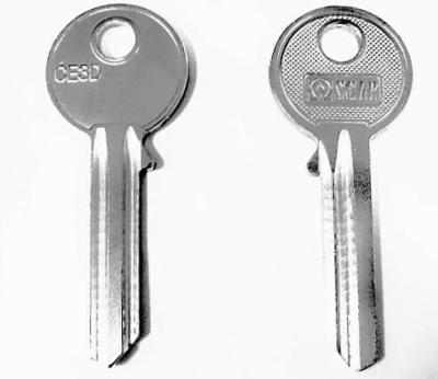 Заготовка для ключа OSCAR CE3D английская 2 паза
