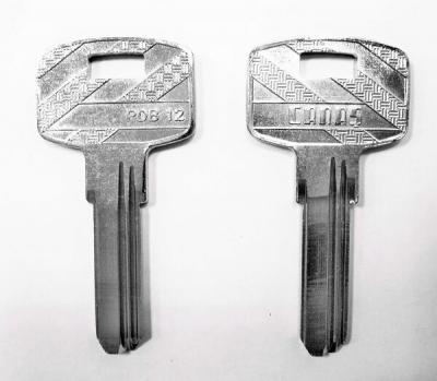 Заготовка для ключа DK8 CANAS PDB 12 вертикальная 3 паза