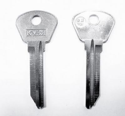 Заготовка для ключа Кузя DM-1 английская 2 паза