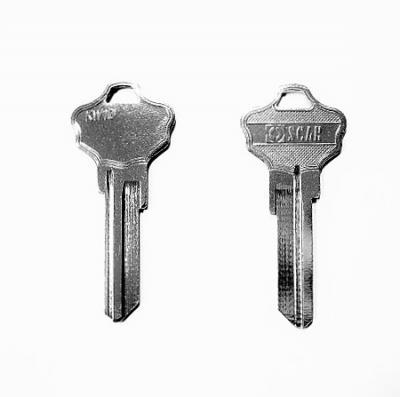 Заготовка для ключа OSCAR KWI-2D KW-10 английская 2 паза
