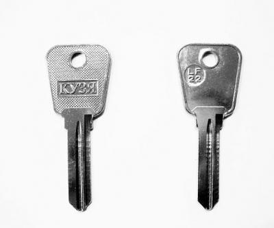 Заготовка для ключа Кузя LF-22 английская 2 паза