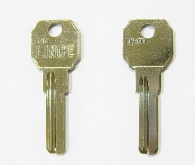 Заготовка для ключа LINCE LIN-19 D вертикальная 2 паза