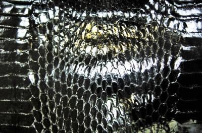 Кобра шкура натуральная чёрная