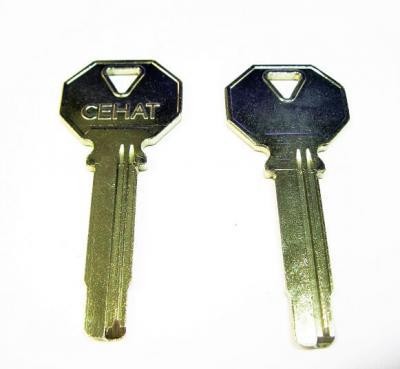 Заготовка для ключа СЕНАТ вертикальная  2 паза правые
