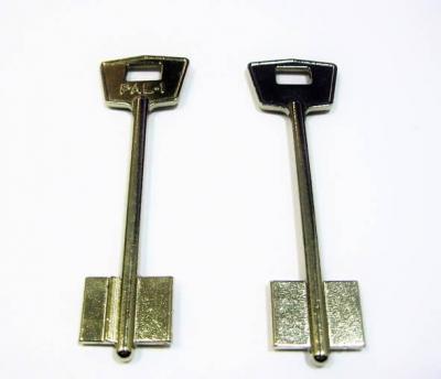 Заготовка для ключа ПАЛЛАДИУМ-1 PAL-1 флажковая  92mm