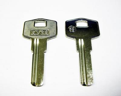 Заготовка для ключа Кузя КЛ-10 вертикальная  2 паза