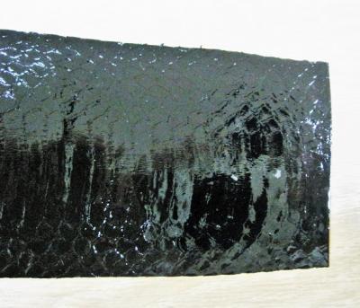 Кобра кожа натуральная черный лак