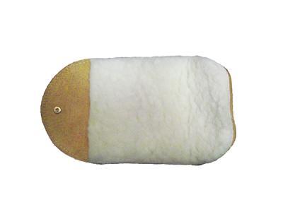 Салфетка-варежка Saphir для полировки из натуральной кожи и меха