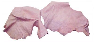 Кожа КРС (обрезки) цвет розовый.