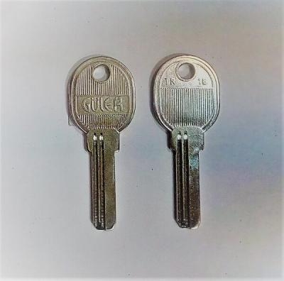 Заготовка для ключа вертикальная GULER TR1B