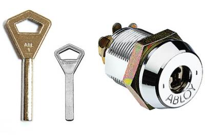 Заготовка для ключа Abloy 52 мм белая сталь