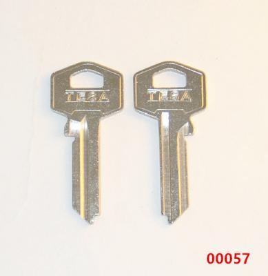 Заготовка для ключа 00057 (0061)TE8D TS7 TE2R TSA22L Tesa англ.
